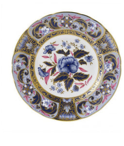 Royal Crown Derby Imari Accent Blue Camellias Plate