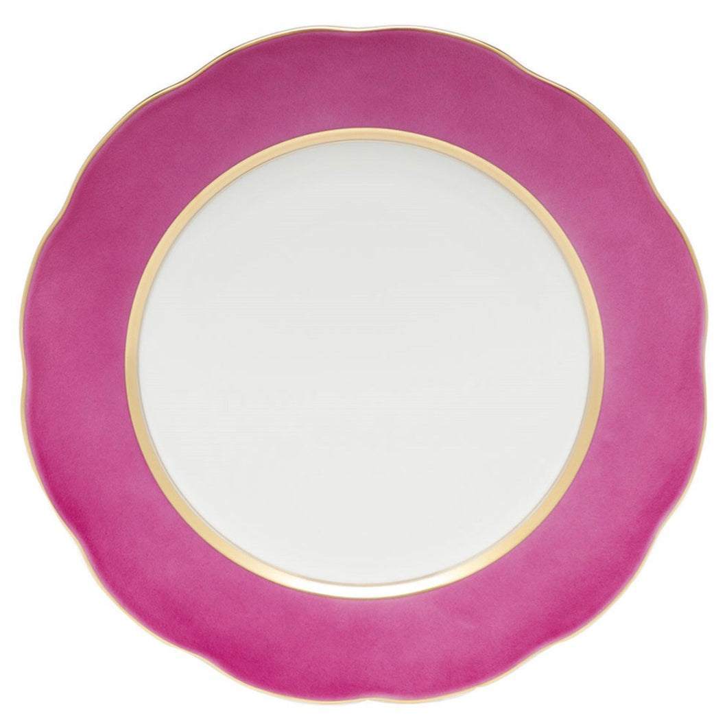 Herend Silk Ribbon Service Plate - Raspberry