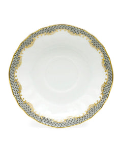 Herend Fish Scale Canton Saucer - Gray