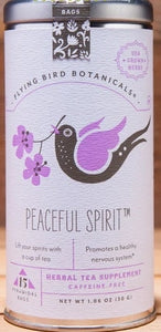 Peaceful Spirit Tea Tin - Flying Bird Botanicals