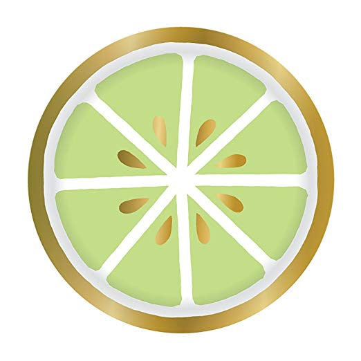 Slant Collections Luscious Lime Paper Plates