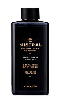 Mistral Black Amber Extra-Rich Body Wash