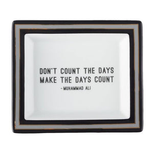 Wise Sayings Desk Tray - Muhammad Ali Quote