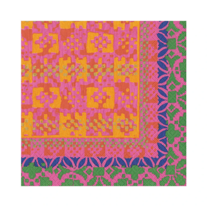 Frida Paper Luncheon Napkins in Fuchsia & Orange - 20 Per Package