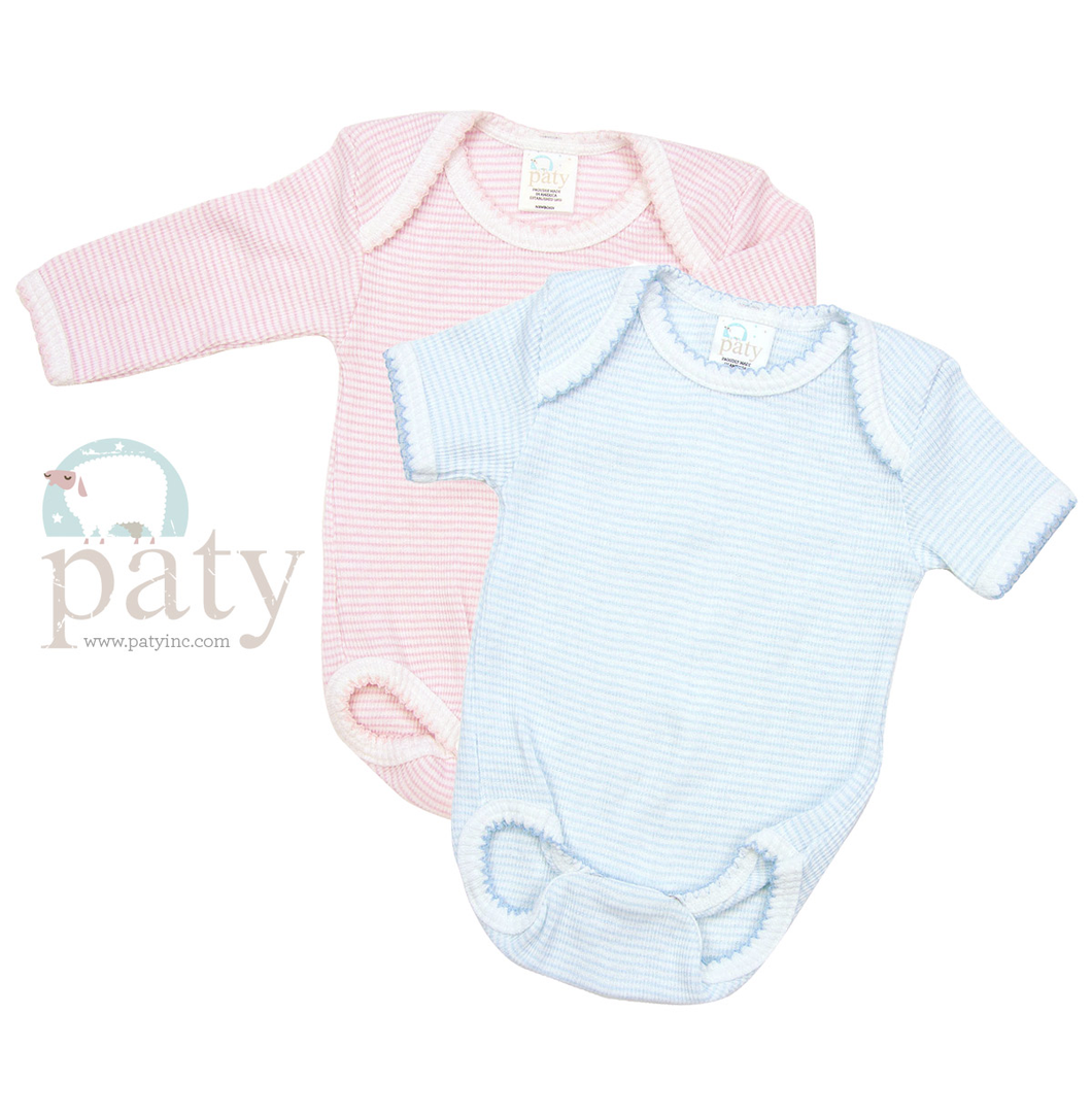 Stripe Onesie Pink, by Paty Children's Apparel Company