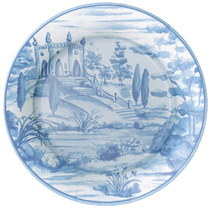 Tuscan Toile Paper Dinner Plates in Blue - 8 Per Package