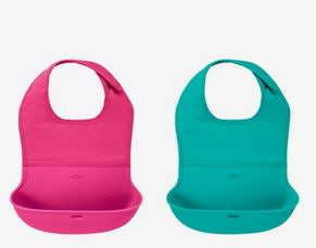 OXO Tot Baby Roll Up Bib - TEAL