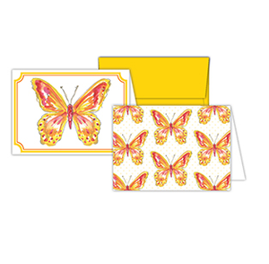 Handpainted Butterfly and Handpainted Butterflies Petite Note