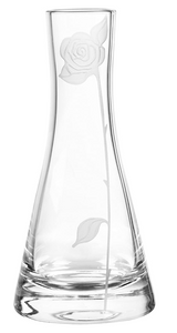Qualia Glass Vase - Rose, 10 IN