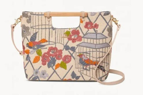 Songbird Embroidered Lark Tote