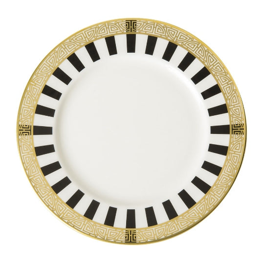Satori Black Dinner Plate by Royal Crown Derby