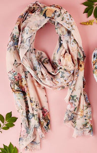 Birds and Flower Scarf