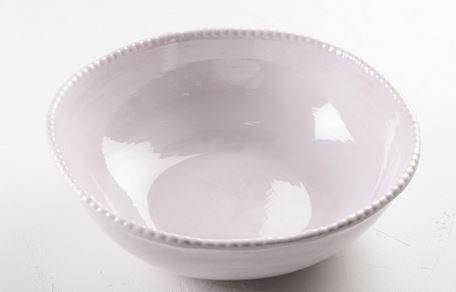 Melamine Beaded Service Bowl - White