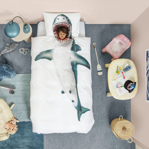 Shark Duvet and Pillowcase - Twin