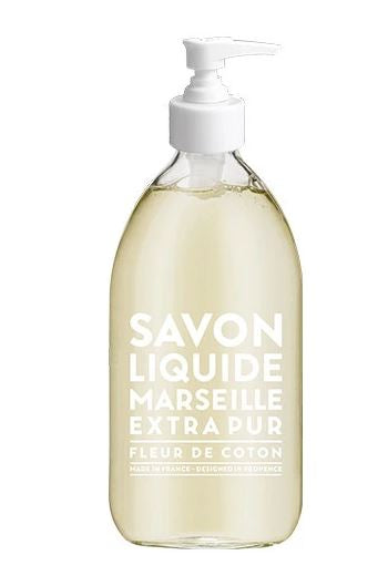Liquid Marseille Soap 16.9 oz - Cotton Flower