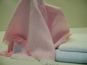 Three Weavers, Hand Woven 100% Cotton Blanket - Pink