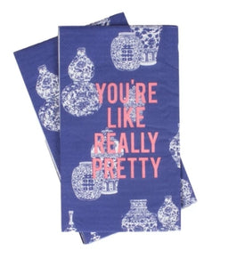 """You're Like Really Pretty"" Ginger Jar Hand Towels"