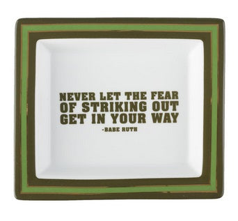 Wise Sayings Desk Tray - Babe Ruth Quote