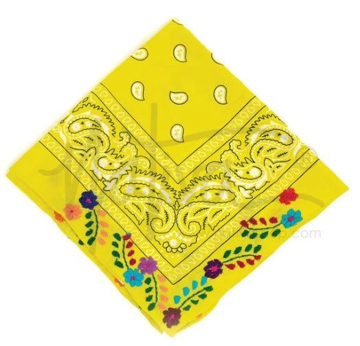 Nativa Floral Bandana - Yellow
