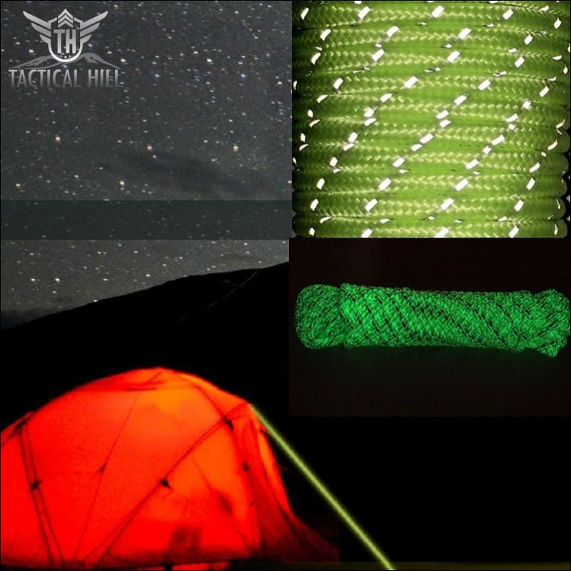 10M Luminous Glow In The Dark Tent Rope Camping Cord - Camping Gear