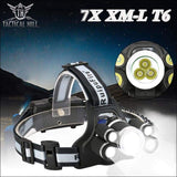 4000 Lumens Rechargeable LED Headlamp - Super Bright LED Combination