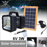 All-in-one Solar Power Camping Power Bank - Solar Panel And Lamp