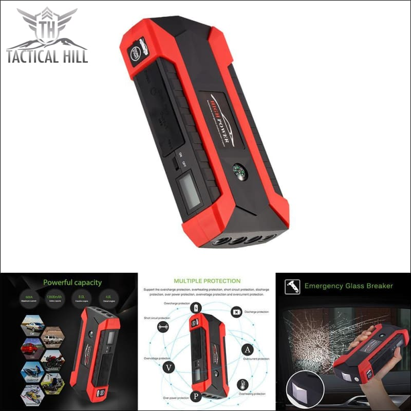 Car Jump Starter 600A Peak Battery Booster With Charger Led Flashlight - Charger