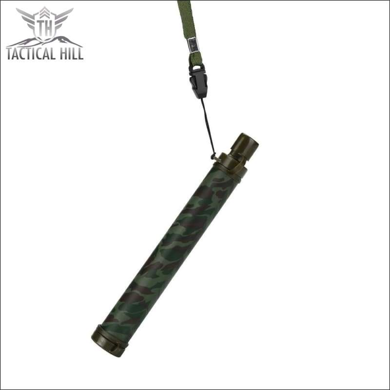 Emergency Survival Portable Water Purifier - Army Camo