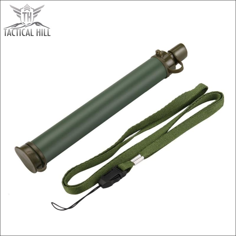 Emergency Survival Portable Water Purifier - Army Green
