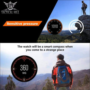 F1™ Touchscreen GPS Sport Smartwatch (SIM Enabled) - Hiking Travel Compass - Altometer