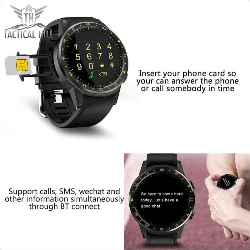 F1™ Touchscreen GPS Sport Smartwatch (SIM Enabled) - Phone Mode - Independent