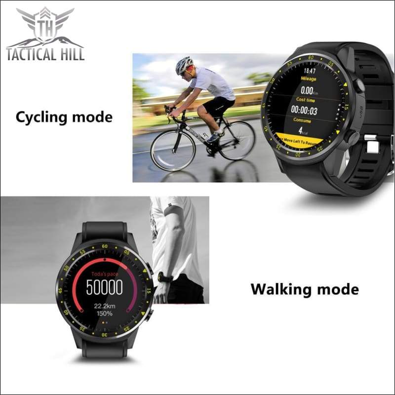 F1™ Touchscreen GPS Sport Smartwatch (SIM Enabled) - Cycling Mode - Walking Mode