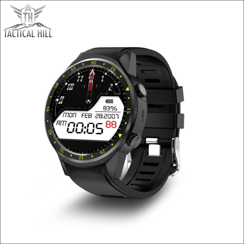 F1 Touchscreen Gps Sport Smartwatch (Sim Enabled) - Black