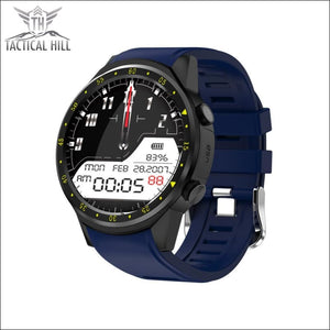 F1 Touchscreen Gps Sport Smartwatch (Sim Enabled) - Blue