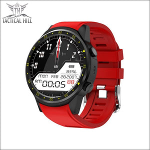F1 Touchscreen Gps Sport Smartwatch (Sim Enabled) - Red