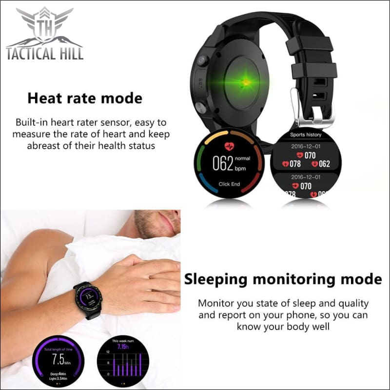 F1 Touchscreen Gps Sport Smartwatch (Sim Enabled)