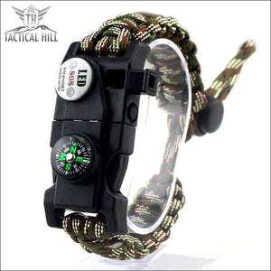 Led Survival Bracelet - Army Camo - Survival Bracelet