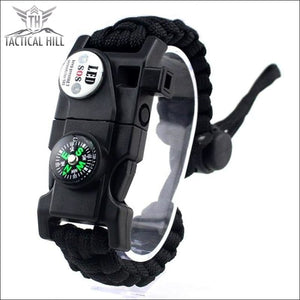 Led Survival Bracelet - Black - Survival Bracelet