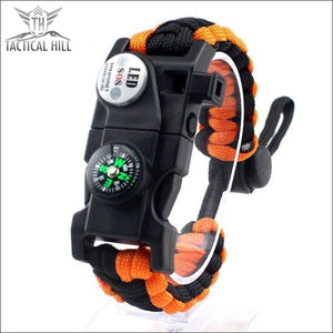 Led Survival Bracelet - Orange - Survival Bracelet