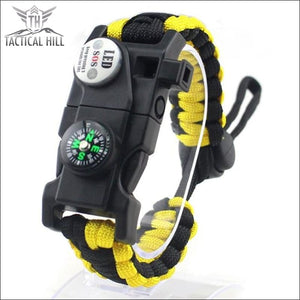 Led Survival Bracelet - Yellow - Survival Bracelet