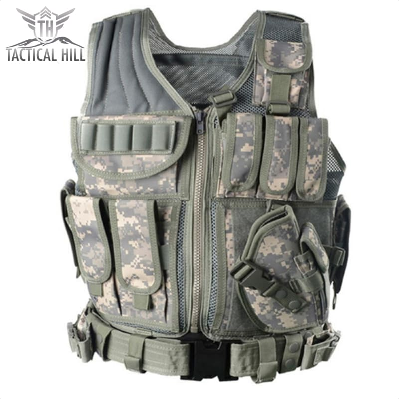 Military Tactical Vest + Utility Belt - Marpat Acu - Vest