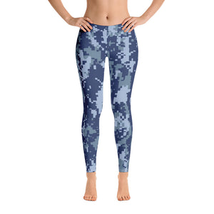 Navy Digital Camo Leggings