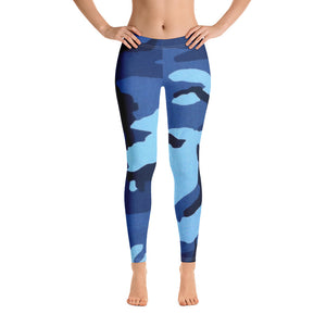 Navy Camo Leggings