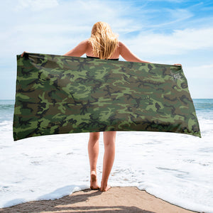 Army Camo Beach Towel