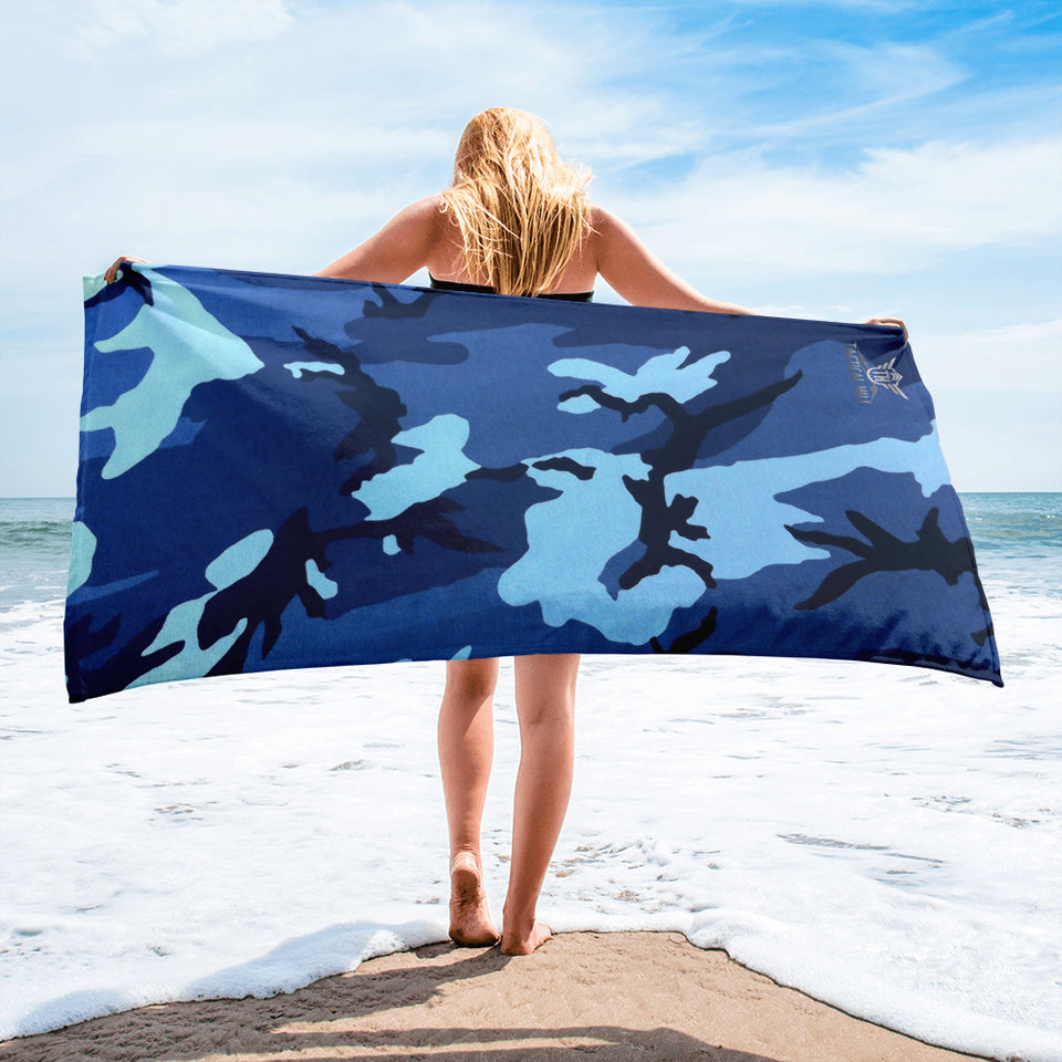 Navy Camo Beach Towel