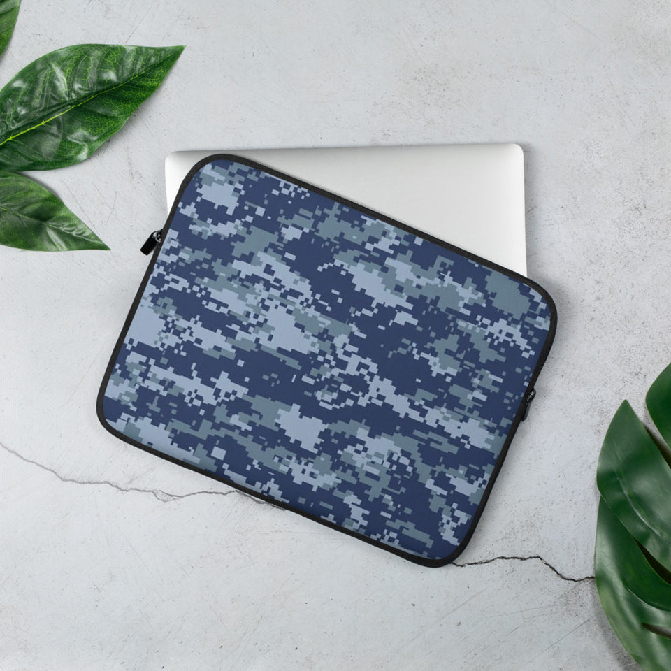 Navy 2 Camo Laptop Sleeve