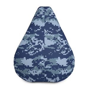 Navy Digital Camo  Bean Bag Chair w/ filling