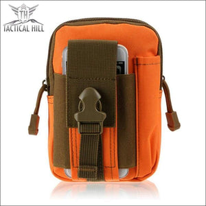 OUTDOOR TACTICAL MOLLE POUCH - Orange Black