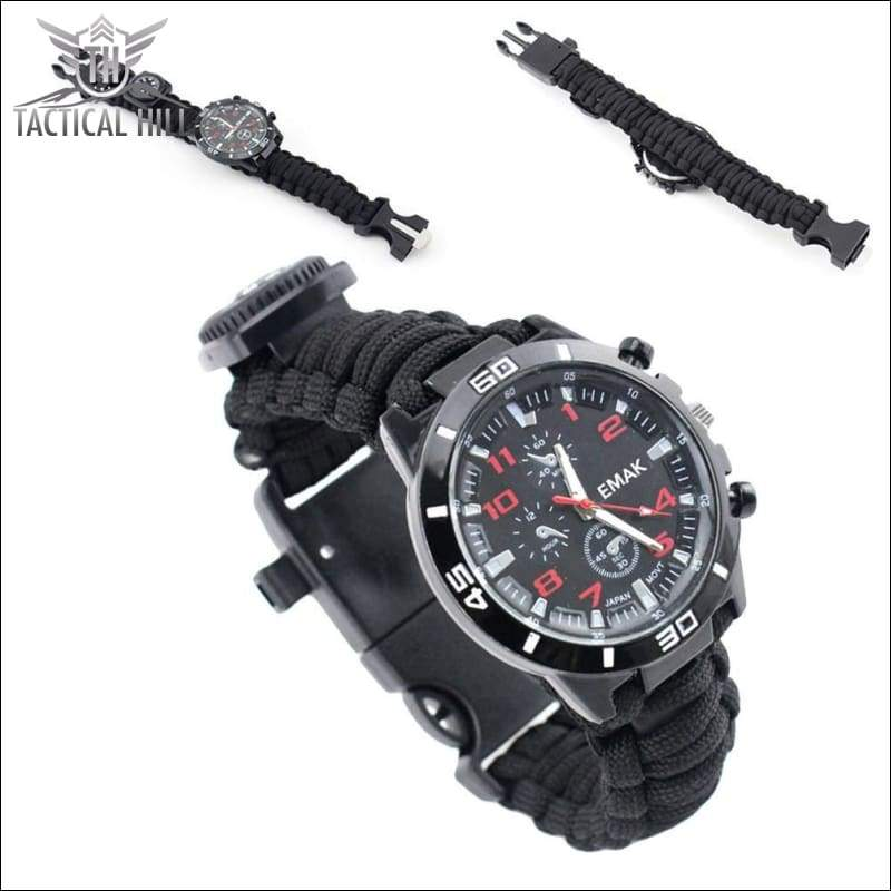 PARACORD™ 16 In 1 SURVIVAL WATCH - Front And Back
