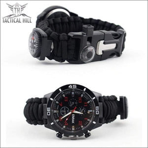 PARACORD™ 16 In 1 SURVIVAL WATCH - Side View